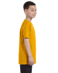 Gold Classic Cotton  Youth T as seen from the sleeveleft