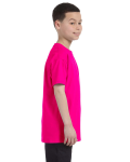 Heliconia Classic Cotton  Youth T as seen from the sleeveleft