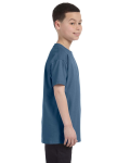 Indigo Blue Classic Cotton  Youth T as seen from the sleeveleft