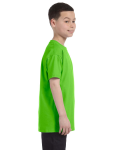 Lime Classic Cotton  Youth T as seen from the sleeveleft