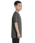 Military Green Classic Cotton  Youth T as seen from the sleeveleft