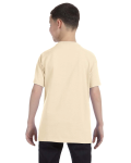 Natural Classic Cotton  Youth T as seen from the back