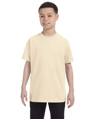 Natural Classic Cotton  Youth T as seen from the front