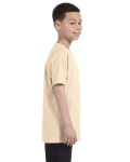 Natural Classic Cotton  Youth T as seen from the sleeveleft