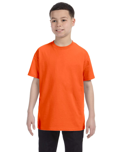 Orange Classic Cotton  Youth T as seen from the front
