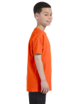 Orange Classic Cotton  Youth T as seen from the sleeveleft
