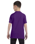 Purple Classic Cotton  Youth T as seen from the back