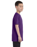 Purple Classic Cotton  Youth T as seen from the sleeveleft