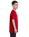 Red Classic Cotton  Youth T as seen from the sleeveleft