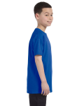 Royal Classic Cotton  Youth T as seen from the sleeveleft