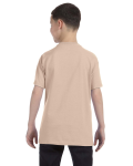 Sand Classic Cotton  Youth T as seen from the back