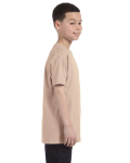 Sand Classic Cotton  Youth T as seen from the sleeveleft