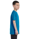 Sapphire Classic Cotton  Youth T as seen from the sleeveleft