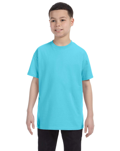 Sky Classic Cotton  Youth T as seen from the front