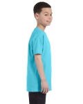 Sky Classic Cotton  Youth T as seen from the sleeveleft