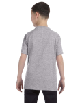 Sport Grey Classic Cotton  Youth T as seen from the back