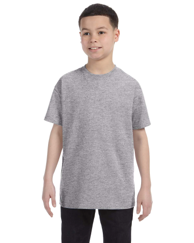 Sport Grey Classic Cotton  Youth T as seen from the front