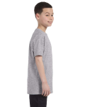 Sport Grey Classic Cotton  Youth T as seen from the sleeveleft