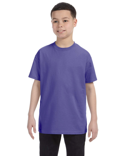 Violet Classic Cotton  Youth T as seen from the front