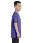 Violet Classic Cotton  Youth T as seen from the sleeveleft