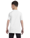 White Classic Cotton  Youth T as seen from the back