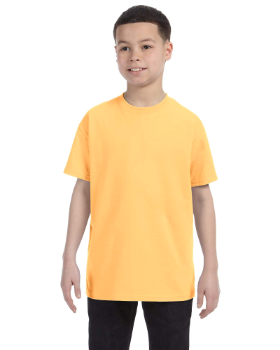 Yellow Haze Classic Cotton  Youth T as seen from the front