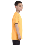 Yellow Haze Classic Cotton  Youth T as seen from the sleeveleft