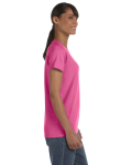 Azalea Classic Cotton Ladies' Missy Fit T-Shirt as seen from the sleeveleft
