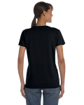 Black Classic Cotton Ladies' Missy Fit T-Shirt as seen from the back