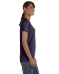 Blackberry Classic Cotton Ladies' Missy Fit T-Shirt as seen from the sleeveleft