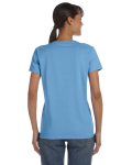 Carolina Blue Classic Cotton Ladies' Missy Fit T-Shirt as seen from the back