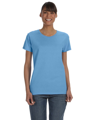 Carolina Blue Classic Cotton Ladies' Missy Fit T-Shirt as seen from the front