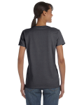 Charcoal Classic Cotton Ladies' Missy Fit T-Shirt as seen from the back