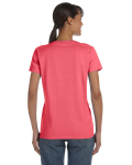 Coral Silk Classic Cotton Ladies' Missy Fit T-Shirt as seen from the back