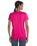 Heliconia Classic Cotton Ladies' Missy Fit T-Shirt as seen from the back
