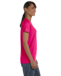 Heliconia Classic Cotton Ladies' Missy Fit T-Shirt as seen from the sleeveleft