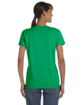 Irish Green Classic Cotton Ladies' Missy Fit T-Shirt as seen from the back