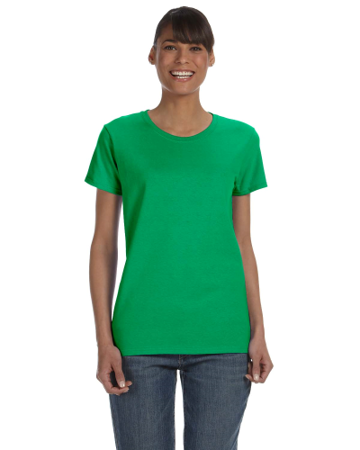 Irish Green Classic Cotton Ladies' Missy Fit T-Shirt as seen from the front