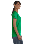 Irish Green Classic Cotton Ladies' Missy Fit T-Shirt as seen from the sleeveleft