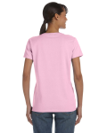 Light Pink Classic Cotton Ladies' Missy Fit T-Shirt as seen from the back