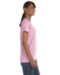 Light Pink Classic Cotton Ladies' Missy Fit T-Shirt as seen from the sleeveleft