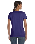 Lilac Classic Cotton Ladies' Missy Fit T-Shirt as seen from the back