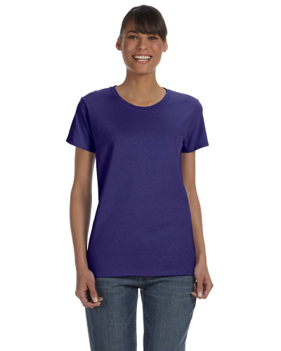 Lilac Classic Cotton Ladies' Missy Fit T-Shirt as seen from the front