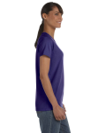 Lilac Classic Cotton Ladies' Missy Fit T-Shirt as seen from the sleeveleft