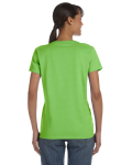 Lime Classic Cotton Ladies' Missy Fit T-Shirt as seen from the back