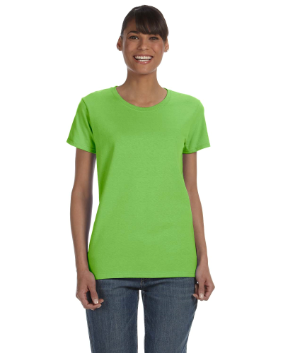 Lime Classic Cotton Ladies' Missy Fit T-Shirt as seen from the front