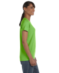 Lime Classic Cotton Ladies' Missy Fit T-Shirt as seen from the sleeveleft