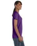 Purple Classic Cotton Ladies' Missy Fit T-Shirt as seen from the sleeveleft