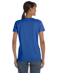 Royal Classic Cotton Ladies' Missy Fit T-Shirt as seen from the back