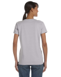 Sport Grey Classic Cotton Ladies' Missy Fit T-Shirt as seen from the back